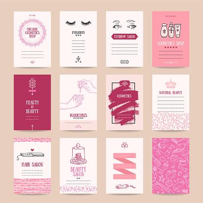 Cosmetics Shop, Makeup Artist Business Card Templates