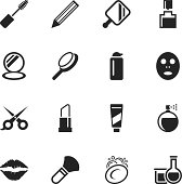 Cosmetics Silhouette Vector File Icons.