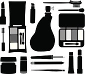 Cosmetics Silhouette Illustration