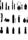 Cosmetics Illustration silhouette                                      EPS 10