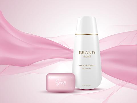 Cosmetics template packshot