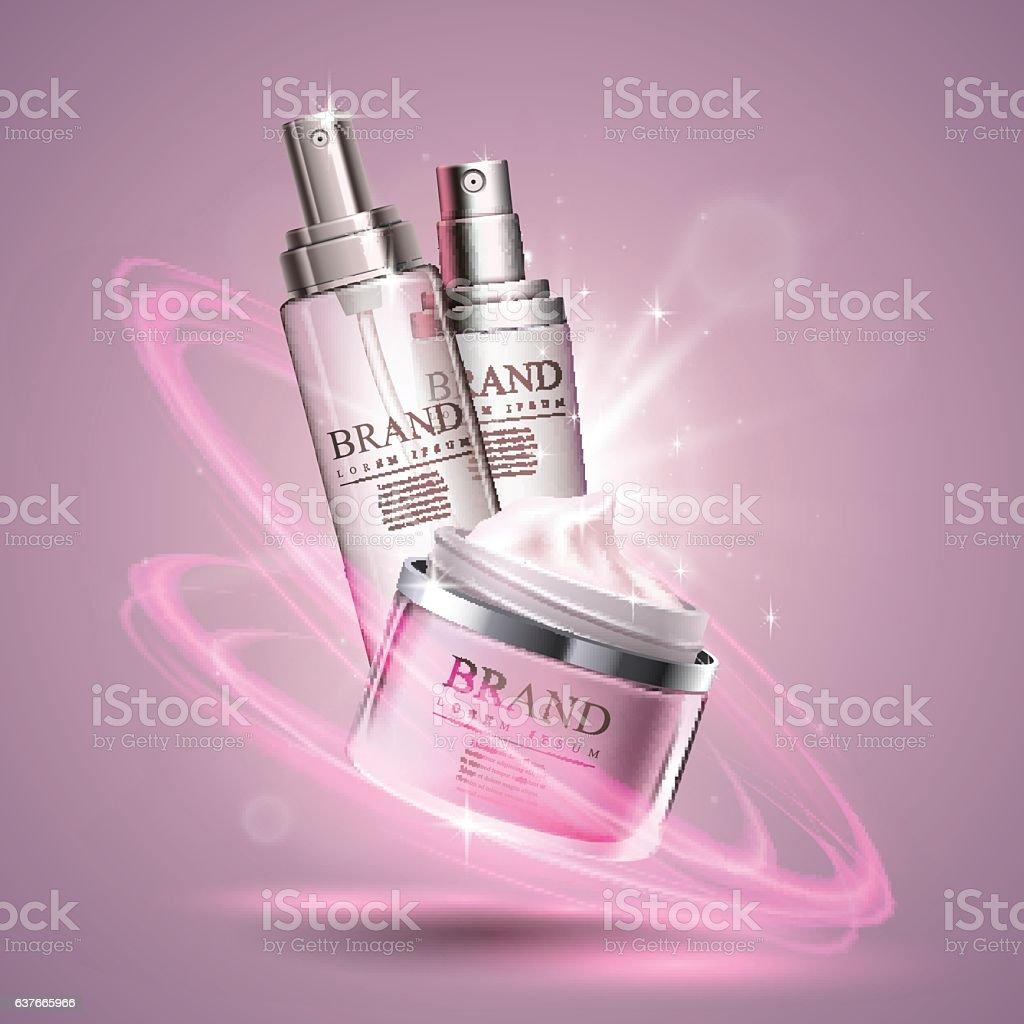 Cosmetics template poster vector art illustration