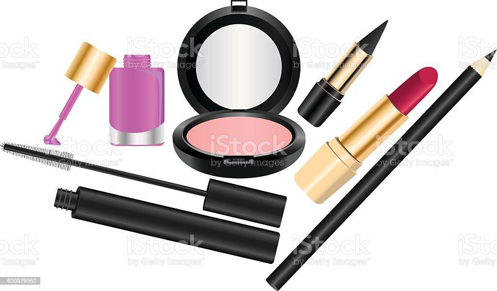 Kosmetyki kosmetyki - stockowe grafiki wektorowe i więcej obrazów eyeliner royalty-free