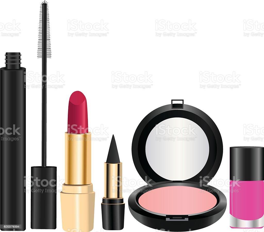 Produtos cosméticos produtos cosméticos - arte vetorial de stock e mais imagens de batom royalty-free