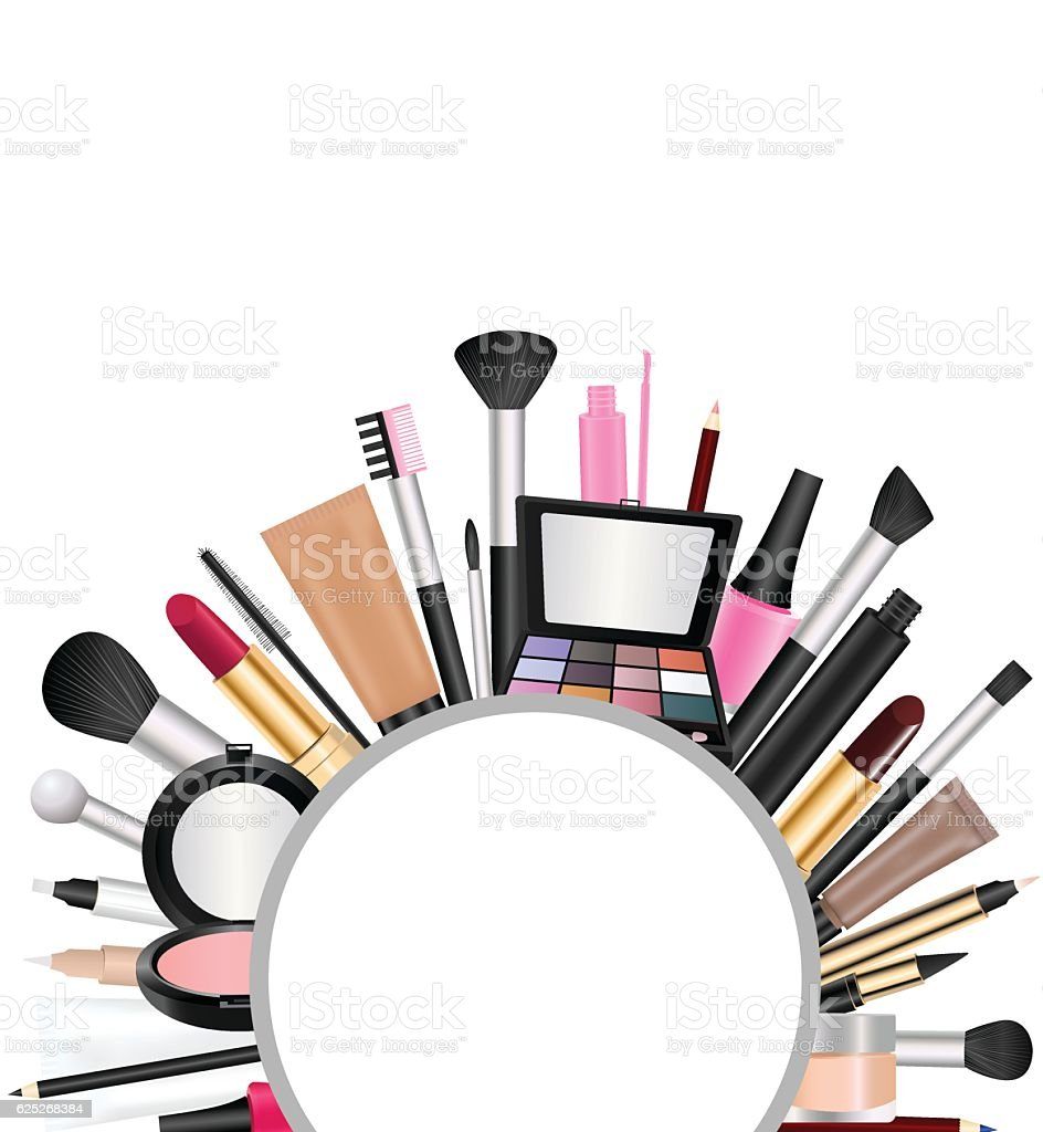cosmetics with text space stock vector art amp more images