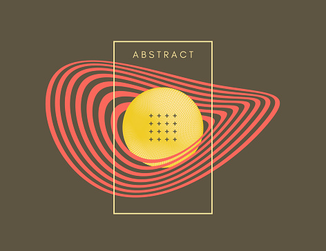 Cosmic art. Abstract background. 3D vector illustration for cover, card, poster, flyer, badge, print for t-shirt, patch or banner.