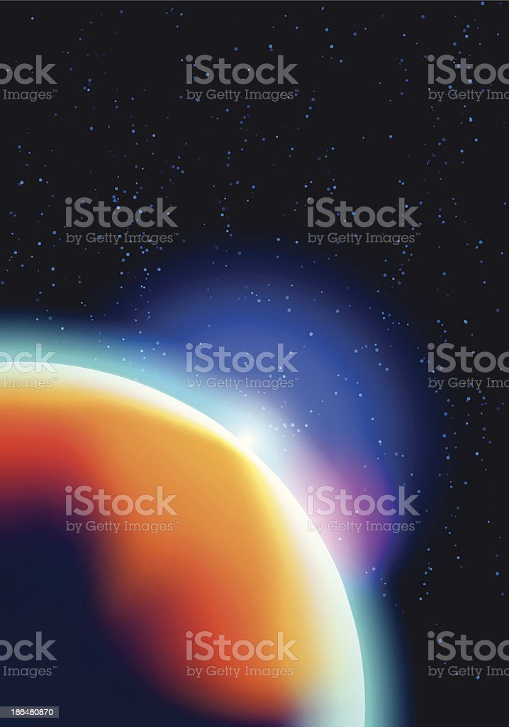 cosmic background royalty-free stock vector art
