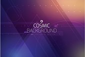Cosmic shining abstract background