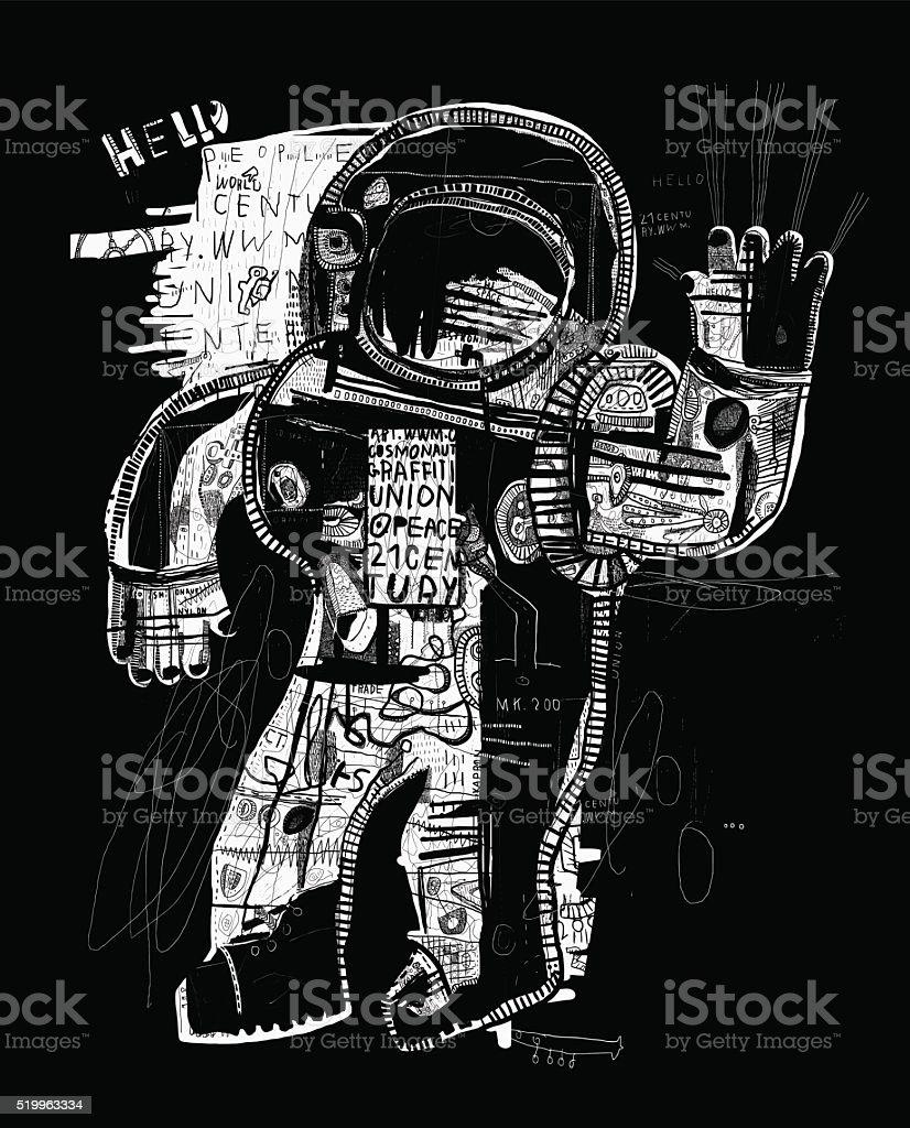 Cosmonaut vector art illustration