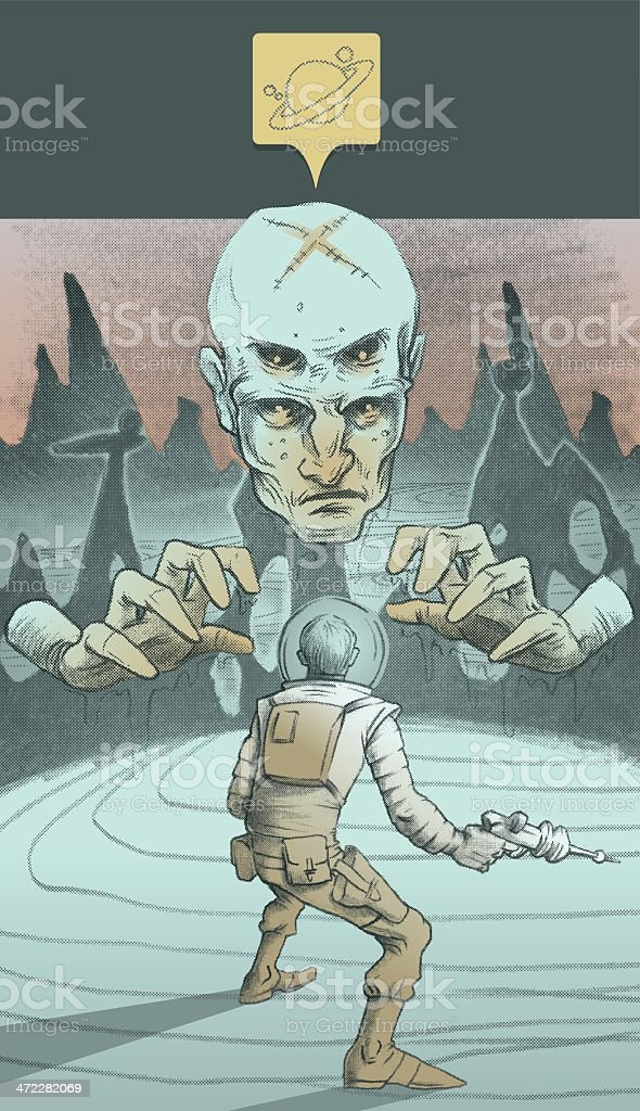 Cosmonaut vs Doc Nasty Plastic Surgery X... vector art illustration