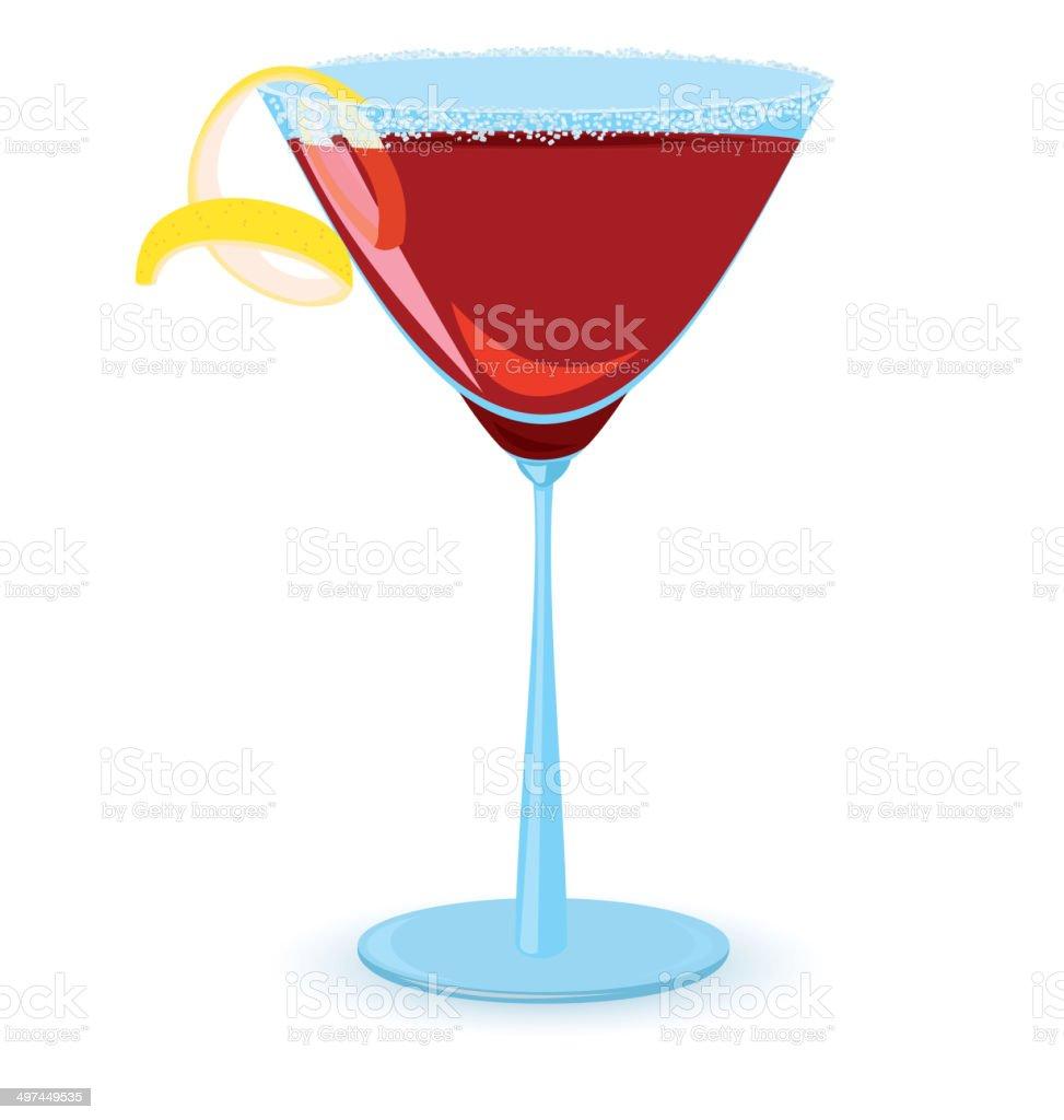 Cosmopolitan cocktail royalty-free stock vector art