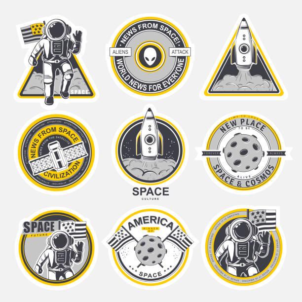 stockillustraties, clipart, cartoons en iconen met kosmos - patchwork