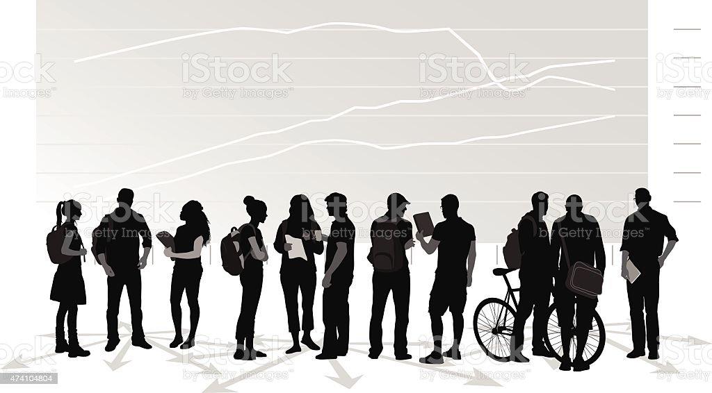 Cost Of Studies vector art illustration