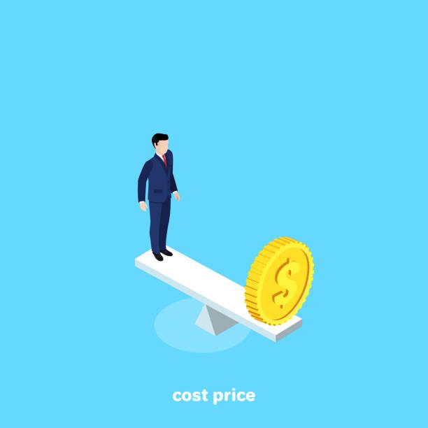 cost price vector art illustration