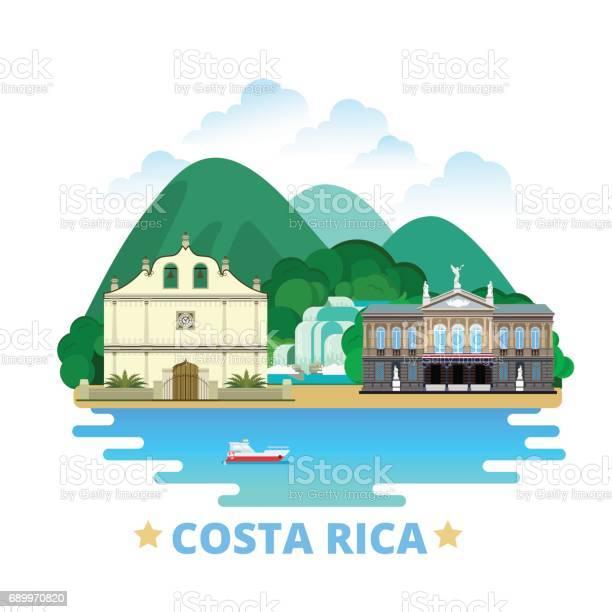 Costa rica country design template flat cartoon style historic sight vector id689970820?b=1&k=6&m=689970820&s=612x612&h=9sfiyxjpsqf55ypwvhmpsmba9eslbewbsv nzk3i35o=