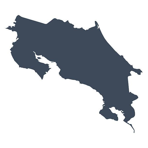 Costa Rica Land Karte – Vektorgrafik