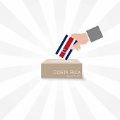 Costa Rica Elections Vote Box Vector Work