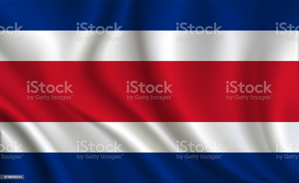 Costa Rica Flag Background Stock Illustration - Download Image Now