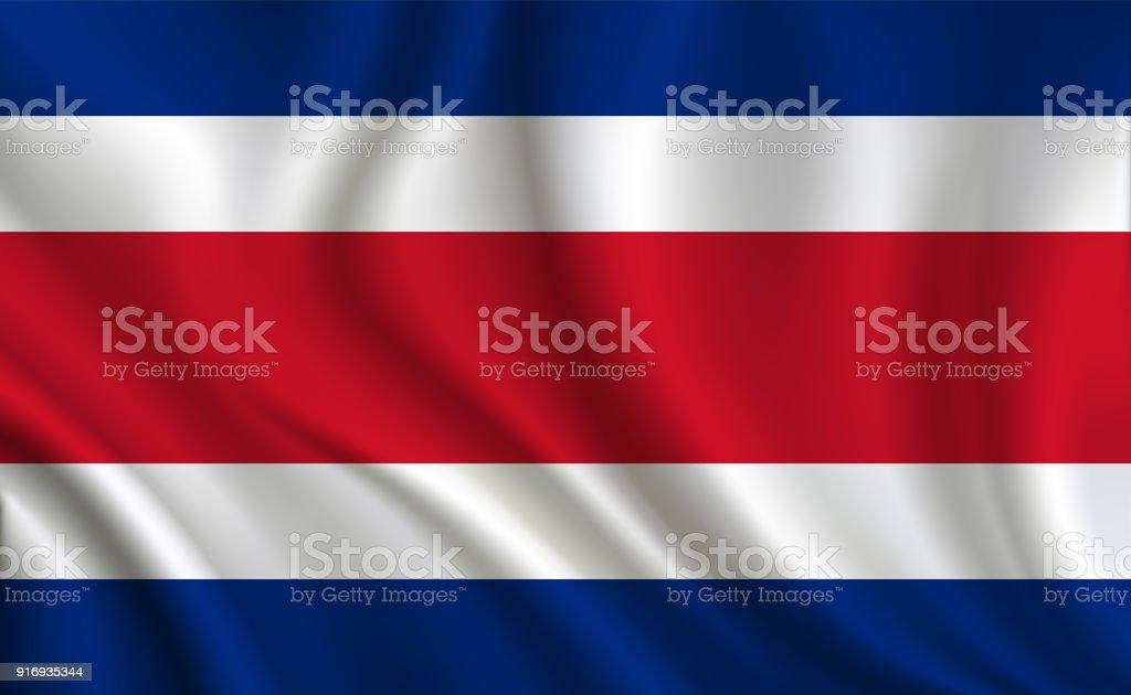 Fundo de Bandeira da Costa Rica - ilustração de arte em vetor