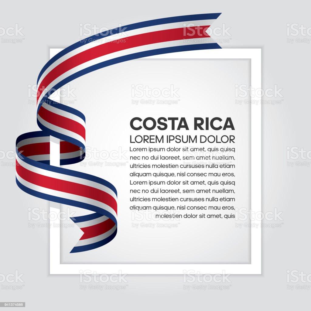 Fondo de bandera de Costa Rica - ilustración de arte vectorial