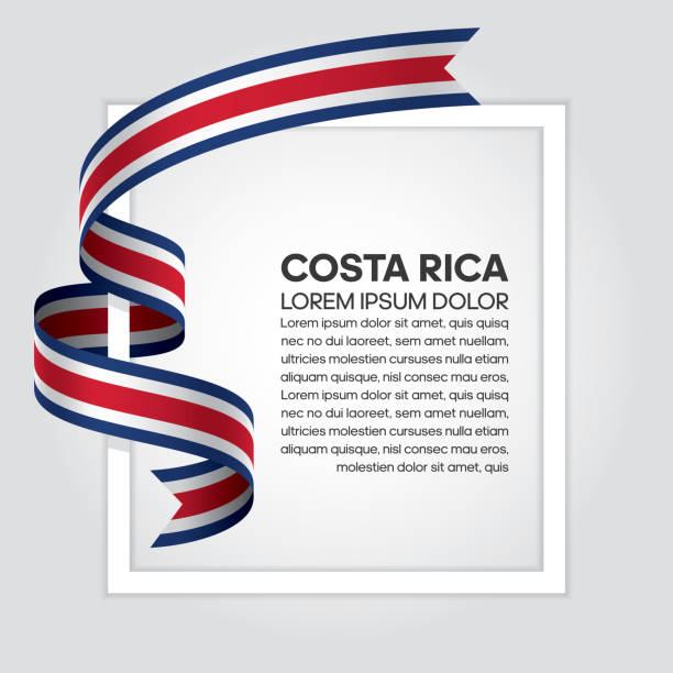 Costa Rica flag background vector art illustration