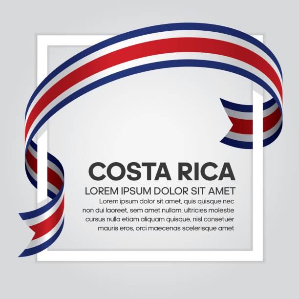 ilustraciones, imágenes clip art, dibujos animados e iconos de stock de fondo de bandera de costa rica - bandera de costa rica