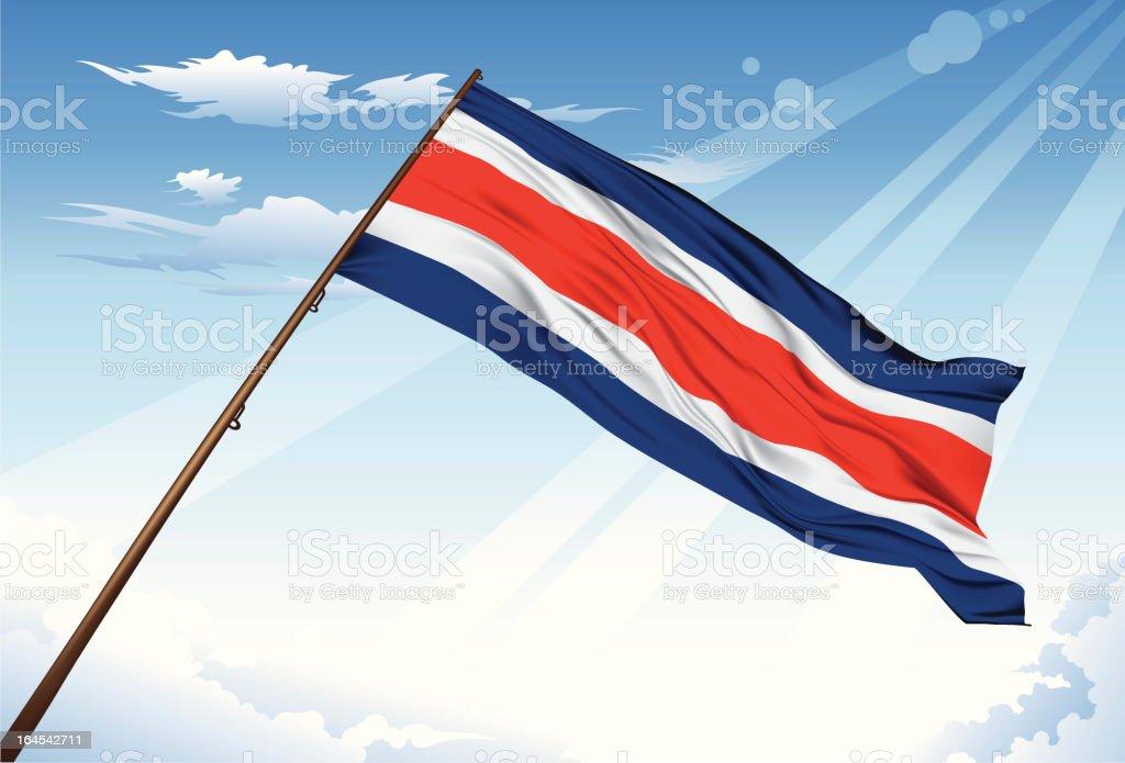 Bandera de Costa Rica - ilustración de arte vectorial