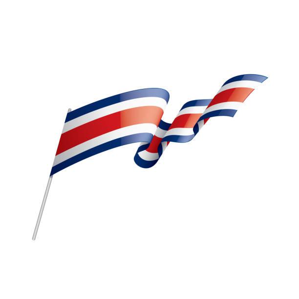 Costa Rica Flagge, Vektorillustration auf weißem Hintergrund – Vektorgrafik