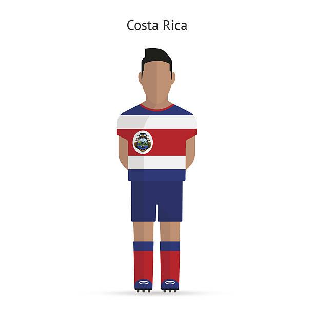 Costa Rica football-Spieler.  Soccer uniform. – Vektorgrafik