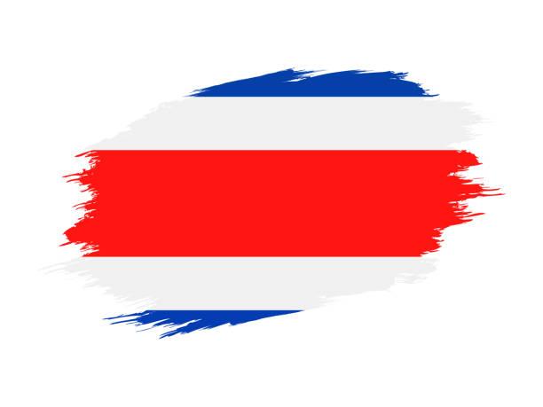 Costa Rica - Grunge Vektor flache Flaggensymbol – Vektorgrafik