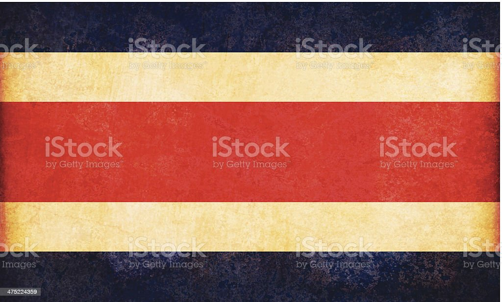 Bandeira de grunge Costa Rica - ilustração de arte em vetor