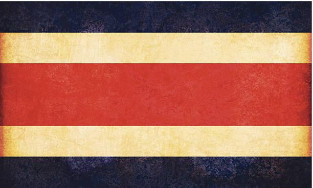 Costa Rica grunge Flagge – Vektorgrafik