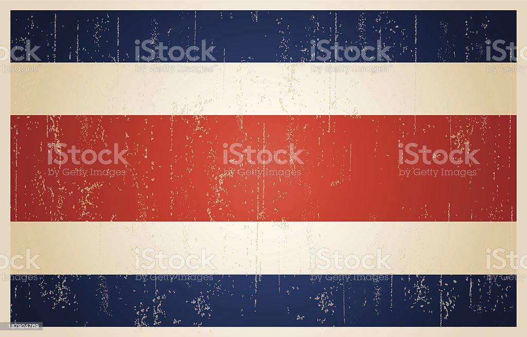 Bandeira de grunge vintage Costa Rica - ilustração de arte em vetor