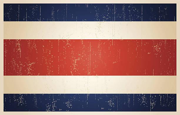 Costa Rica Flagge im grunge vintage – Vektorgrafik