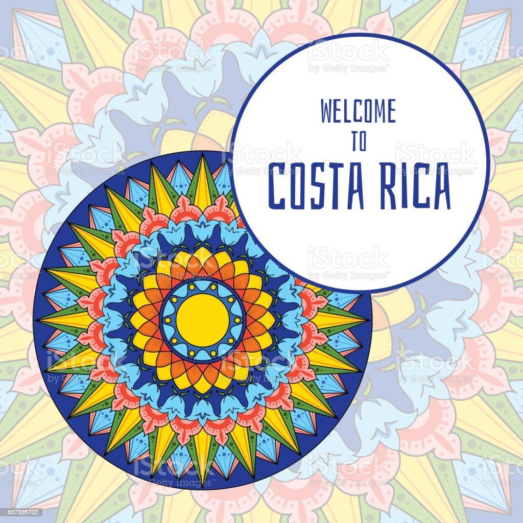 Vector de ilustración de Costa Rica - ilustración de arte vectorial