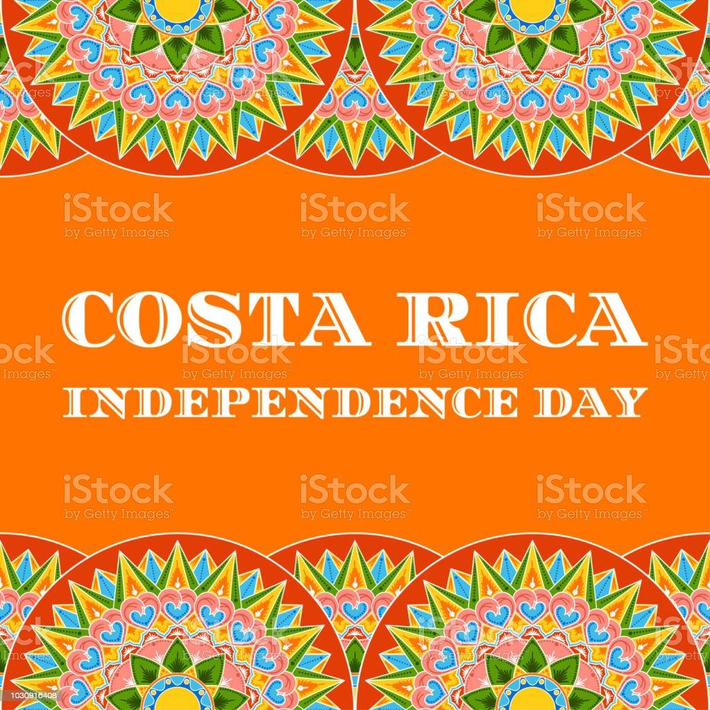 Día de la independencia de Costa Rica, 15 de septiembre, vector de ilustración. Diseño de plantilla de fondo para postal, festival bandera, folleto o cartel. - ilustración de arte vectorial