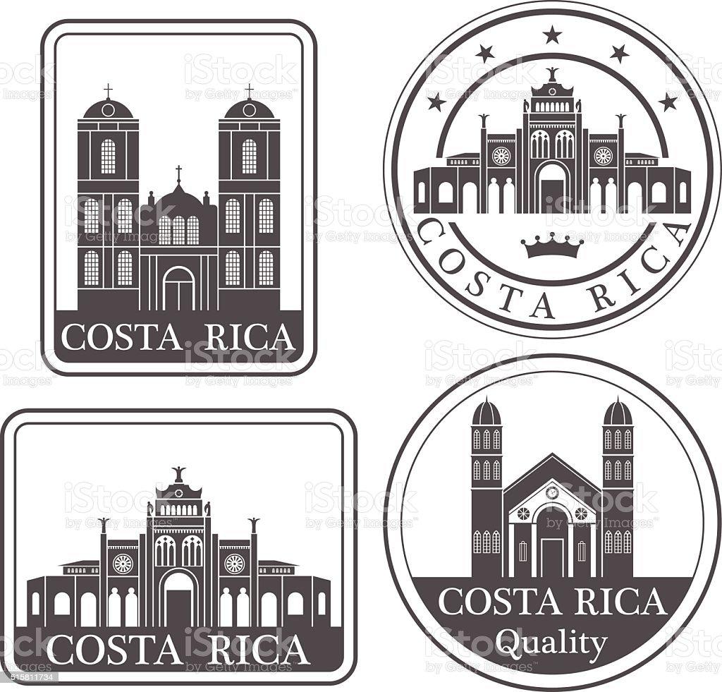 Costa Rica - ilustración de arte vectorial