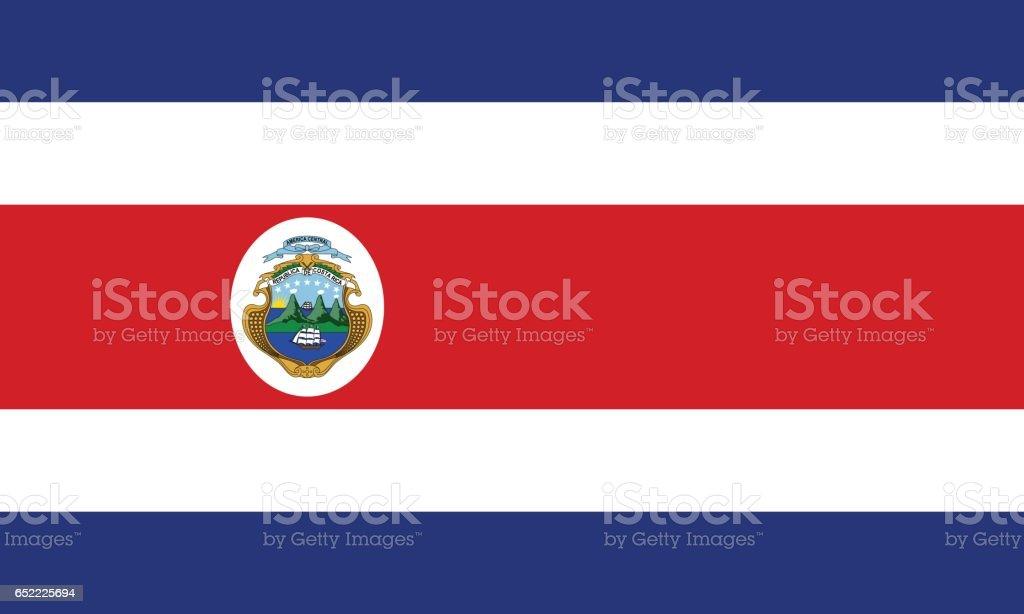 Costa Rica - ilustração de arte em vetor
