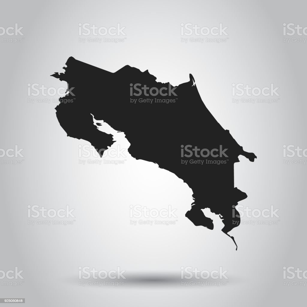 Costa rica vector map black icon on white background stock vector costa rica vector map black icon on white background royalty free costa rica gumiabroncs Images