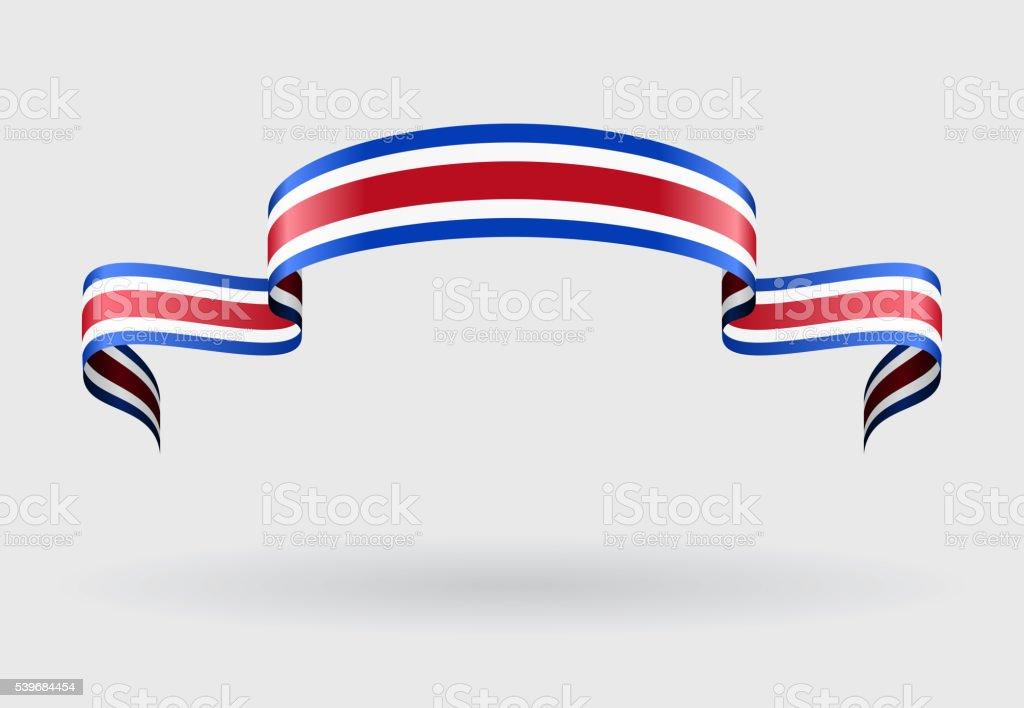 Bandeira da Costa Rica fundo. Ilustração vetorial. - ilustração de arte em vetor