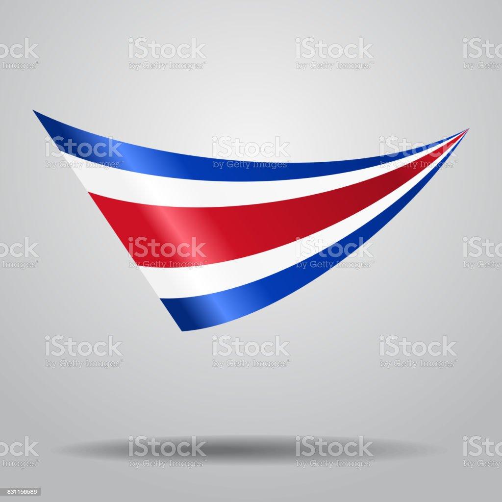 Fondo de bandera de Costa Rica. Ilustración de vectores. - ilustración de arte vectorial