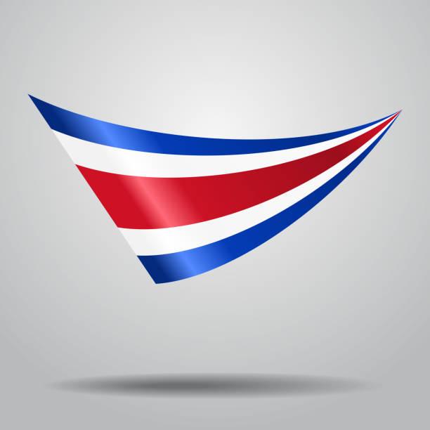 Costa-Ricanische Flaggen-Hintergrund. Vektor-illustration. – Vektorgrafik