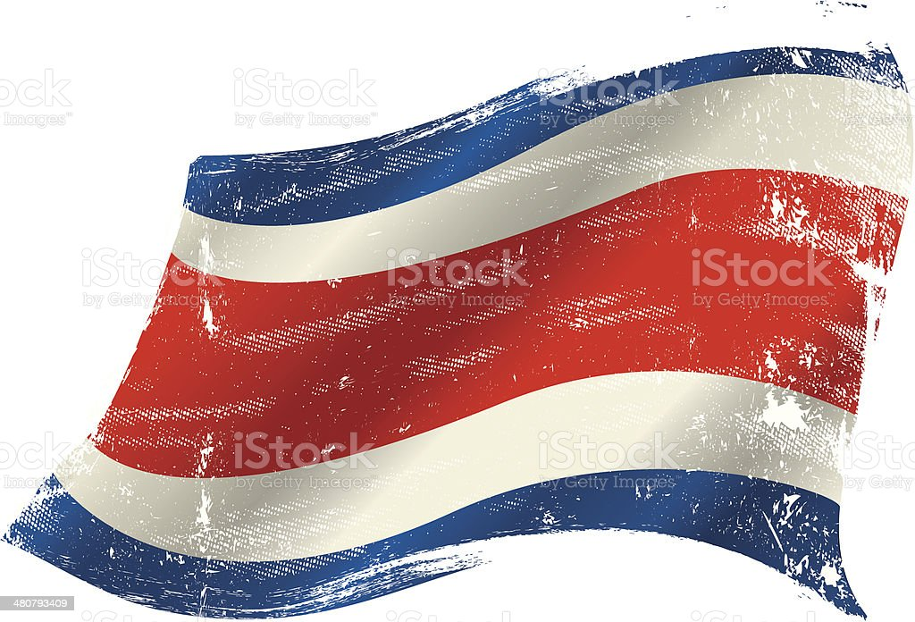 Bandera de grunge de Costa Rica - ilustración de arte vectorial