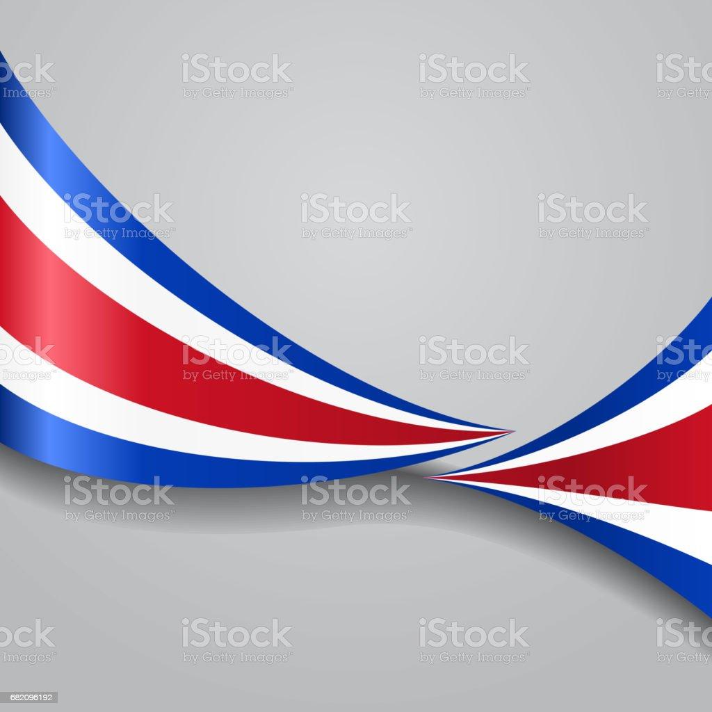 Bandera wavy de Costa Rica. Ilustración de vectores. - ilustración de arte vectorial