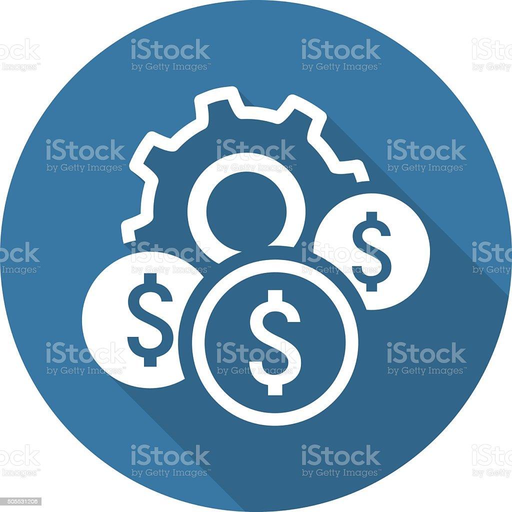 Costs Optimization Icon. Flat Design. vector art illustration