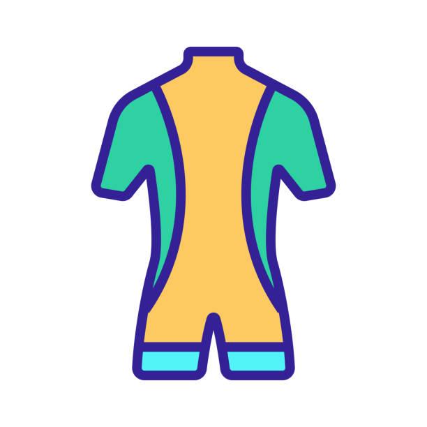 ilustrações de stock, clip art, desenhos animados e ícones de costume scuba diver icon vector. isolated contour symbol illustration - swim arms