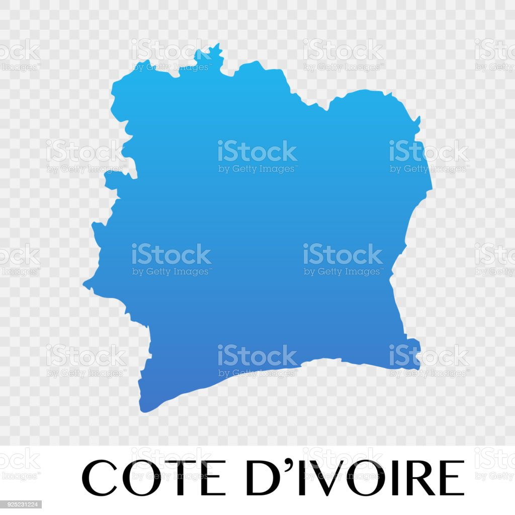 Cote DIvoire Map In Africa Continent Illustration Design Royalty Free Divoire