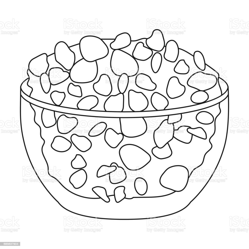 Cottage cheese in the bowl icon in outline style isolated on white background. Milk product and sweet symbol stock vector illustration. royalty-free cottage cheese in the bowl icon in outline style isolated on white background milk product and sweet symbol stock vector illustration 0명에 대한 스톡 벡터 아트 및 기타 이미지
