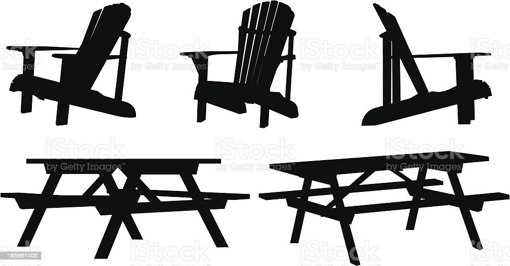 Cottage Furniture Silhouettes Stock Vector Art & More ...