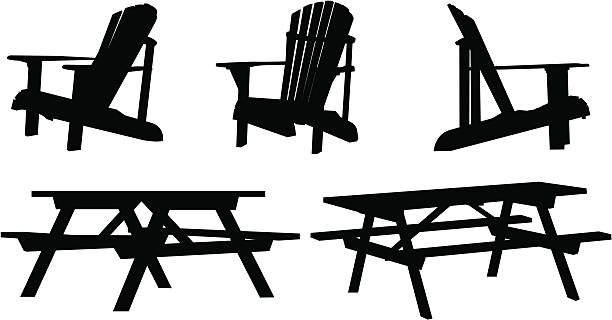 Best Adirondack Chair Illustrations, Royalty-Free Vector ...